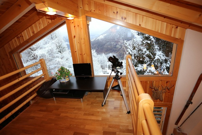 Best view in the chalet - mezzanine floor